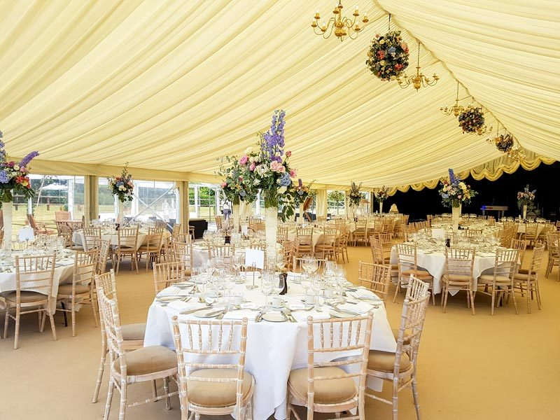 Wedding Marquee internal setup